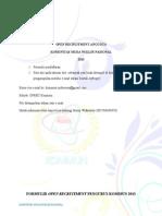 Formulir Anggota KOMMUN 2013