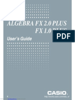 Algebra Fx 20 Plus Users Guide