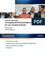 0401 Leveraging SAP BusinessObjects Mobile SDK for Your Analytical Needs