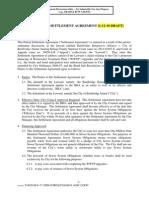 Partial Settlement Agreement (Bainbridge Ratepayers Alliance suit)
