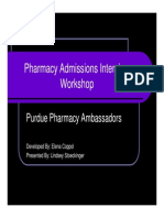 Pharmacy Admissions Interview Workshop Presentation