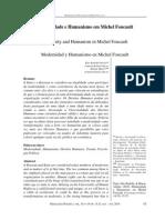Rev Psicología Politica Modernidade Humanismo en Michel Foucault