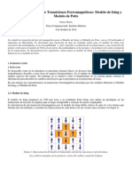 Transiciones de Fase; Modelo de Ising-Potts