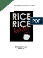 Rice, Rice Baby Business Plan