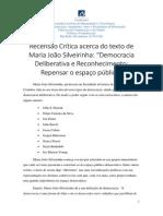 Recensão Crítica Acerca Do Texto de Maria João Silveirinha