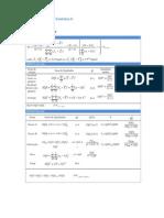 Formulario Analise Estatistica IIII