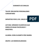 Ensayo Personalismo Comunitario Carlos Díaz