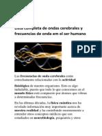 Lista Completa de Ondas Cerebrales y Frecuencias de Onda Em El Ser Humano