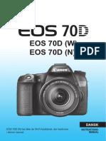 Canon EOS 70D Instruktionsmanual (Dansk)