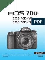 Canon EOS 70D Användarhandbok (Svenska)