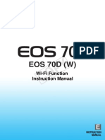 Canon EOS 70D Wi-Fi Function Instruction Manual (English)