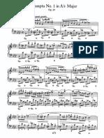 Impromptu No 1 in Ab, Op 29