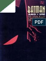 Batman Ano Um - Frank Miller