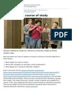 Deutschland Nach Deutschland Bewerbung en 0 Applying for a Course of Study