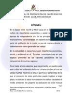 Manual de Producción de Cacao Fino de Aroma a Traves de Manejo Ecológico