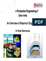 PPE 2, Overview of Reservoir Eng (Lecture 2)