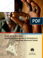 Greed & Corruption in Zimbabwe Diamond Fields
