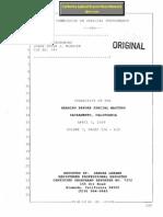 3. Judge Peter McBrien Prosecution Whistleblower Leaked Transcript - Commission on Judicial Performance Victoria B. Henley - Arthur G. Scotland 3rd District Court Vance Raye - Tani Cantil-Sakauye Supreme Court - Ulf Carlsson Case Sacramento Superior Court - US District Court Eastern District of California - Racketeering - Honest Services Fraud - Judge Misconduct - Vol. 3 of 3