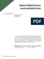 Aplicacao Da Distribuicao Poisson Zero Truncada a Produtividade de Autores (1)