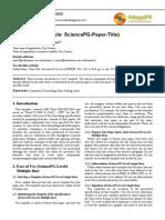 SciencePublishingGroup Manuscript Template