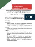Curso de Asistente de Despachante de Aduana y Comercio Exterior 2015 CaCESFe