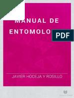 Manual de Entomologia - Javier Hoceja y Rosillo - 1881