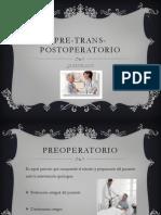 Pre Trans Postoptraeratorio( Joma)