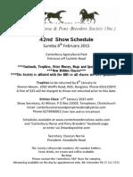February 2015 Inhand Show Schedule