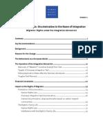 HRW Discrimination Netherlands on the Name of Integration