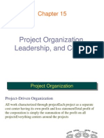 15. Project Organization, Leadership