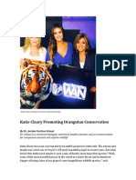 Katie Cleary Promoting Orangutan Conservation 2015 NEWS