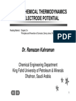 03 Electrochemistry Thermodynamics and Electrode Potential