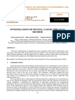 Investigation of Spatial Cam by the Lean Method
