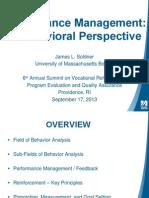 Performance Management Behavioral Perspective