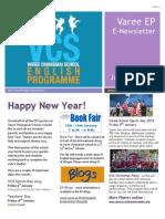 Varee School EP Newsletter January 2015