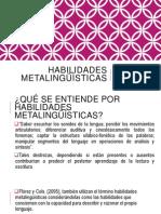 HABILIDADES Metalingüísticas