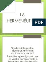 La Hermeneutica Exposicion