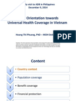 Policy Orientation towards Universal Health Coverage in Vietnam