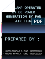 Led Lamp Operated by Dc Power Generation By