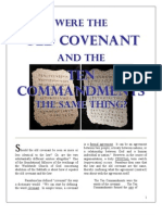 Were the OLD COVENANT and The TEN COMMANDMENTS Same?
