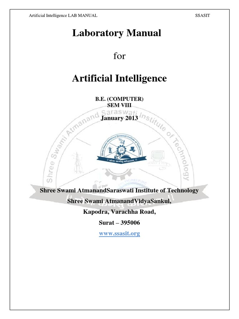 Artificial Intelligence Lab Manual | Computer Programming | Areas Of  Computer Science