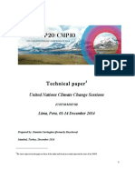 Report on the United Nations Climate Change Sessions, December 2014