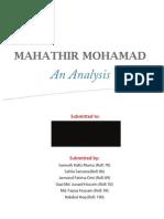 Mahathir Mohamad - An Ethical Analysis
