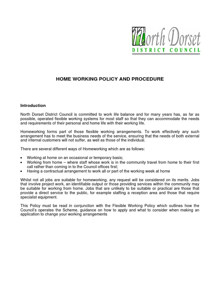 Application for work from home