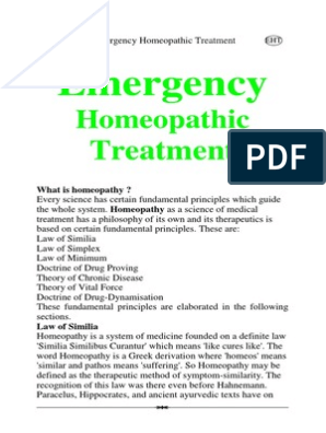 Emergency+Homeopathic+Treatment | Homeopathy | Alternative
