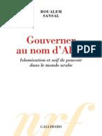 Gouverner Au Nom d'Allah - Boualem Sansal