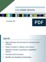 Methods to Initiate Ventures
