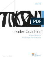 Leader Coaching a New Model to Accelerate Performance