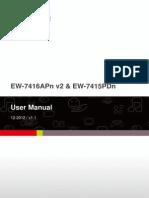 Ew-7416apn v2 Ew-7415pdn Manual