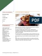 Bart Ingredients - Autumn Fruit Cobbler - 2012-10-25